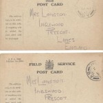 Walter Longton postcards home