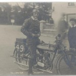 Walter Longton riding at the TT
